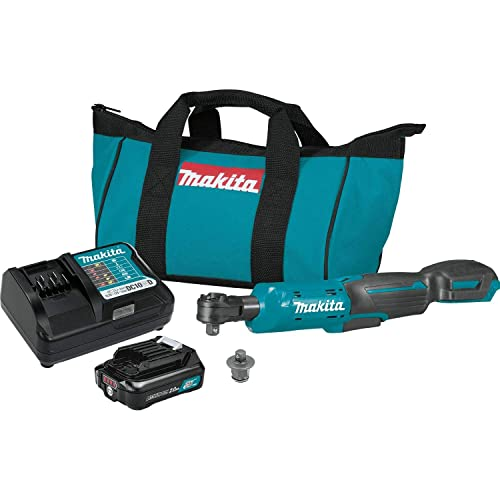 Makita RW01R1 12V max CXT Lithium-Ion Cordless 3 8 1 4 Sq. Drive Ratchet Kit 2.0Ah