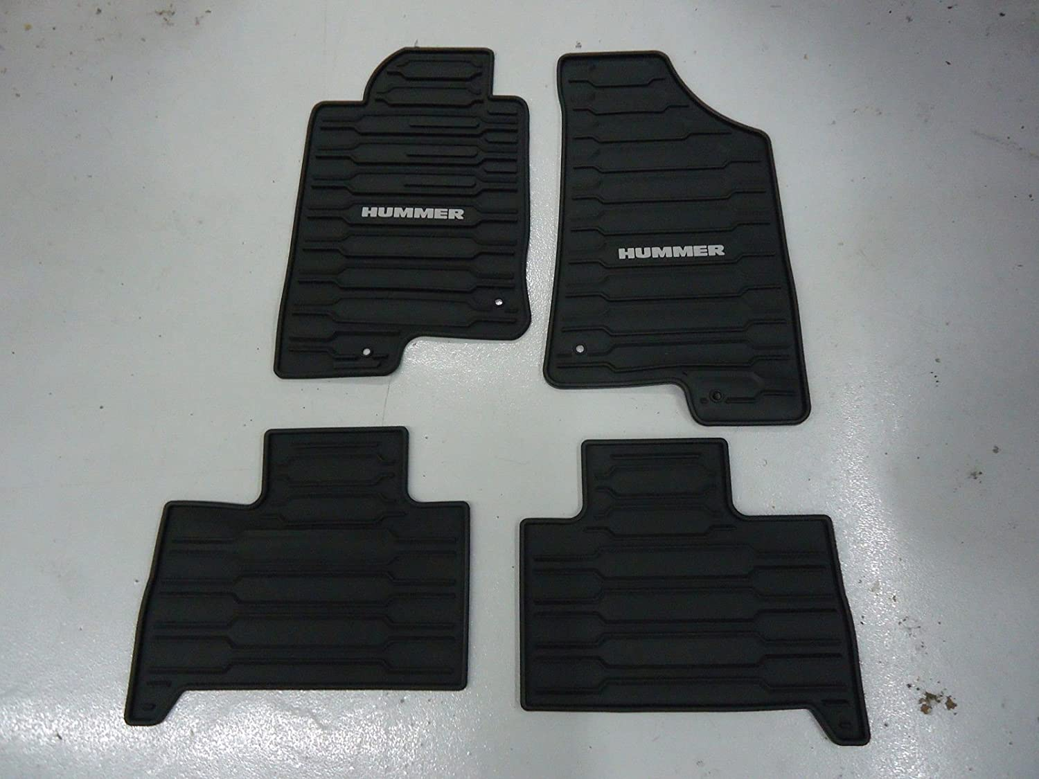 GM # 12498903 Floor Mats - Front and Rear Premium All Weather - Ebony with Hummer Logo