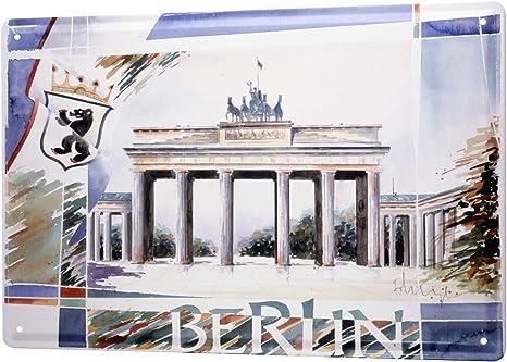 Heigl Berlin Brandenburg Gate Tin Sign City F
