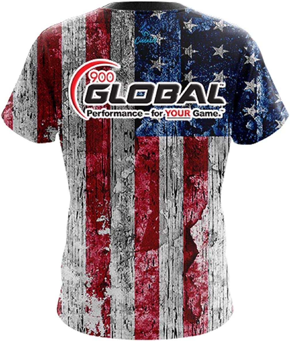 CoolWick 900 Global Mens Rustic USA Bowling Jersey
