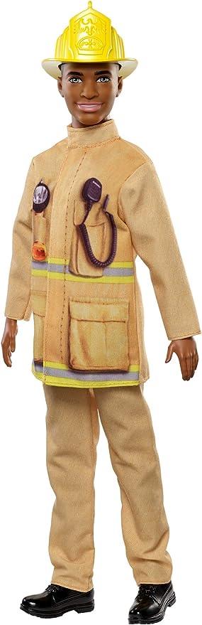 Barbie- Ken Pompiere Bambola Giocattolo per Bambini 3+ Anni
