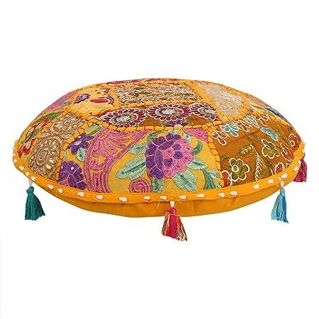 Juego de fundas de coj/ín estilo bohemio para silla de sal/ón de estilo indio con dise/ño de mandalas de hippie y bohemio de 81 cm