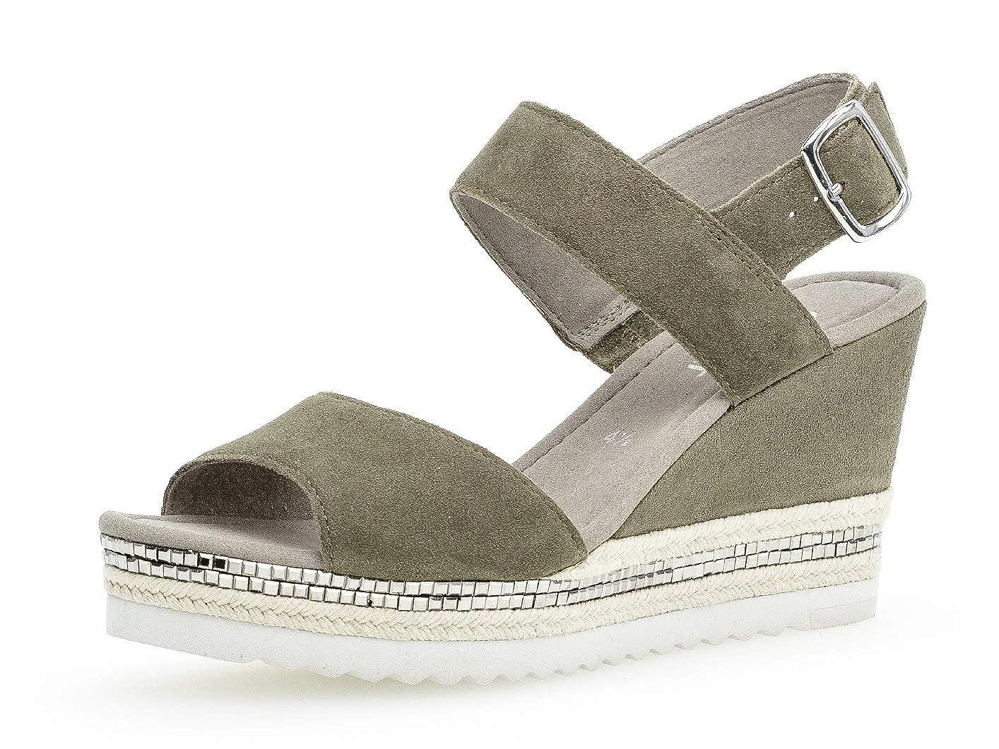 Gabor confortable D'été chaussures 25 790 Femme sandales Compensées plat 6gIyvYmbf7