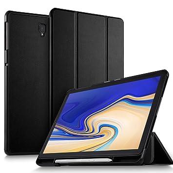 ELTD Funda Carcasa con portalápices para Samsung Galaxy Tab S4 10.5 SM-T830N/T835N, Stand Función Fundas Duras Cover para Samsung Galaxy Tab S4 ...