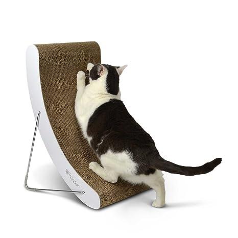 hepper Hi-Lo gato rascador, Extra grueso cartón y resistente de acero de 3