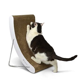 hepper Hi-Lo gato rascador, Extra grueso cartón y resistente de ...
