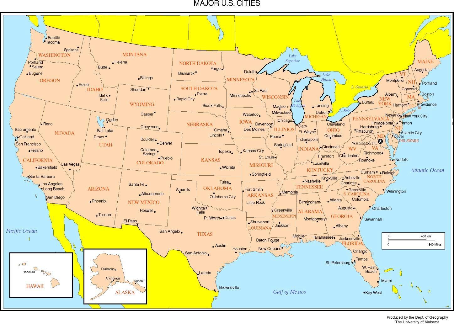 Amazoncom Home Comforts Laminated Map Maps The United States Us - Us-map-boston-ma