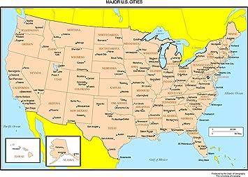 Amazon.com: Home Comforts Laminated Map - Maps The United States Us ...