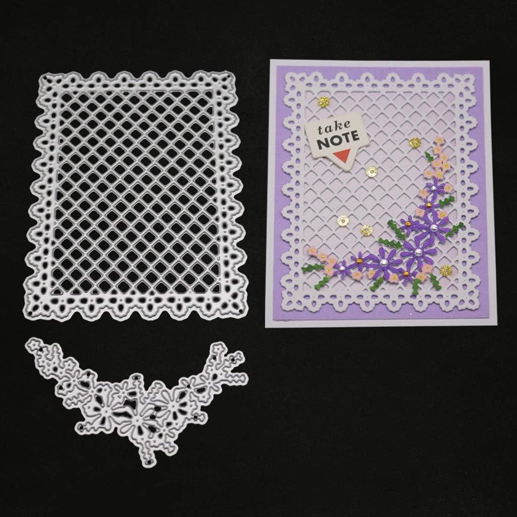 Thobu Die Cuts-Lattice Metal Cutting Dies Stencil DIY Scrapbooking Album Stamp Paper Card Embossing Crafts Decor