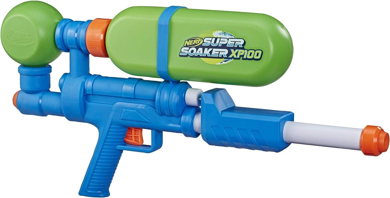 Nerf Super Soaker XP100 - Acumulador de Agua - Acción de Agua con Aire comprimido - Depósito extraíble - para niños, Adolescentes y Adultos