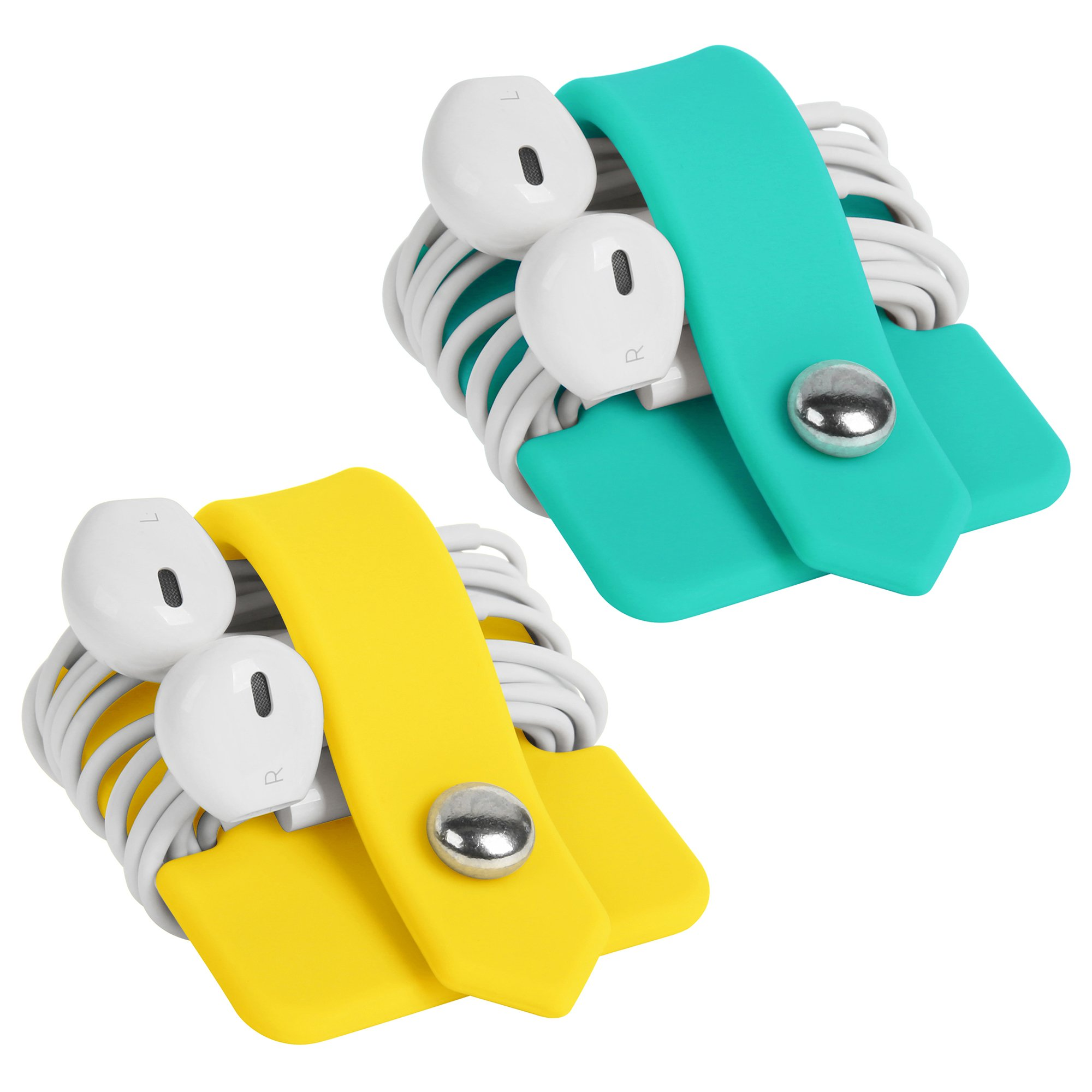 ELFRhino Silicone Earphone Organiser Earphone Wrap Winder Headphone Cord Organiser Wrap Winder Manager/Cable Winder Tiffany