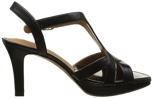Clarks Delsie Risa, Escarpins femme - Noir (Black Leather), 40 EU (6.5 UK)