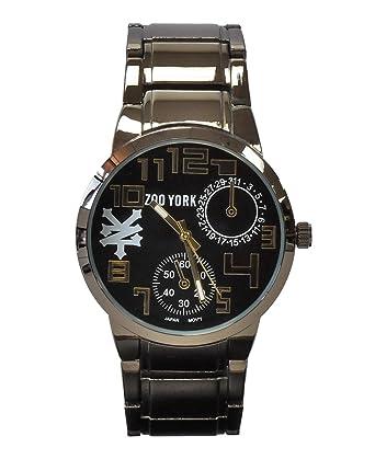 Zoo York - Camiseta de color plateado y dorado reloj de pulsera: Amazon.es: Relojes