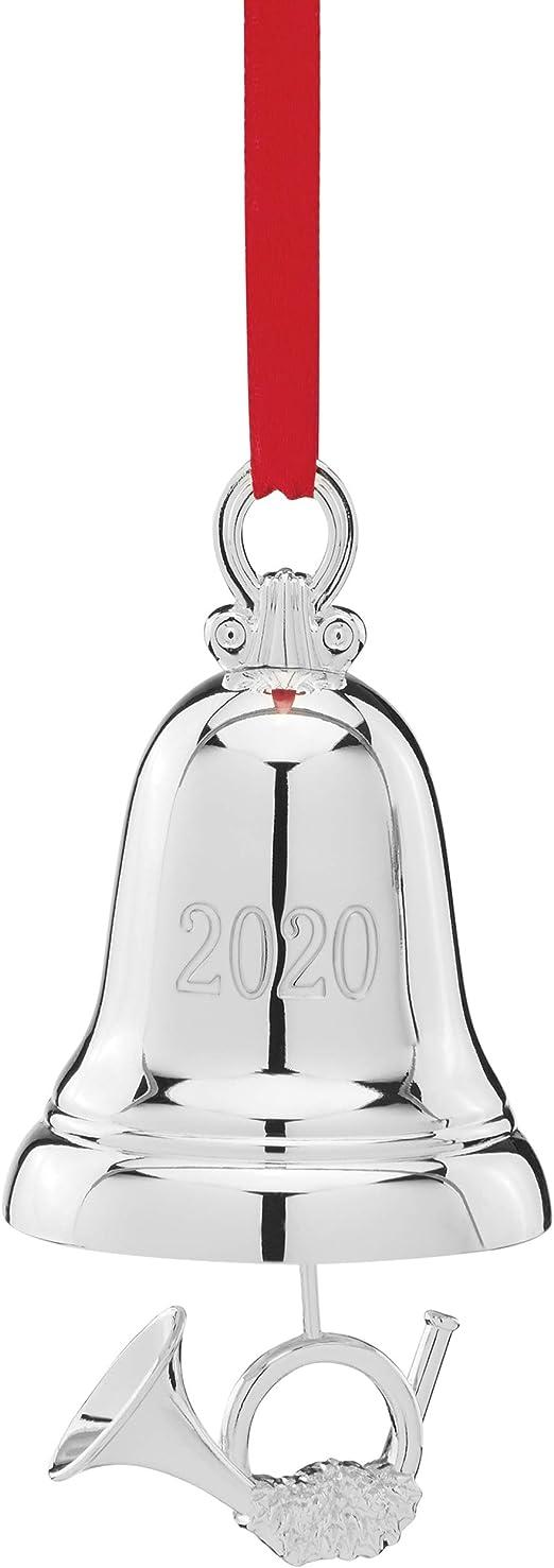 Amazon.com: Lenox 2020 Silver Bell Ornament, 0.30 LB, Metallic