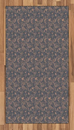 Amazon Com Ambesonne Vine Area Rug Abstract Pink Shade Grapevine