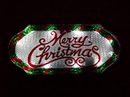 led lighted merry christmas sign 20 long indooroutdoor