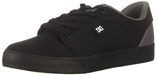 5b00a815c Amazon.com: DC Men's Anvil TX Skate Shoe, black/battleship/black, 6 ...