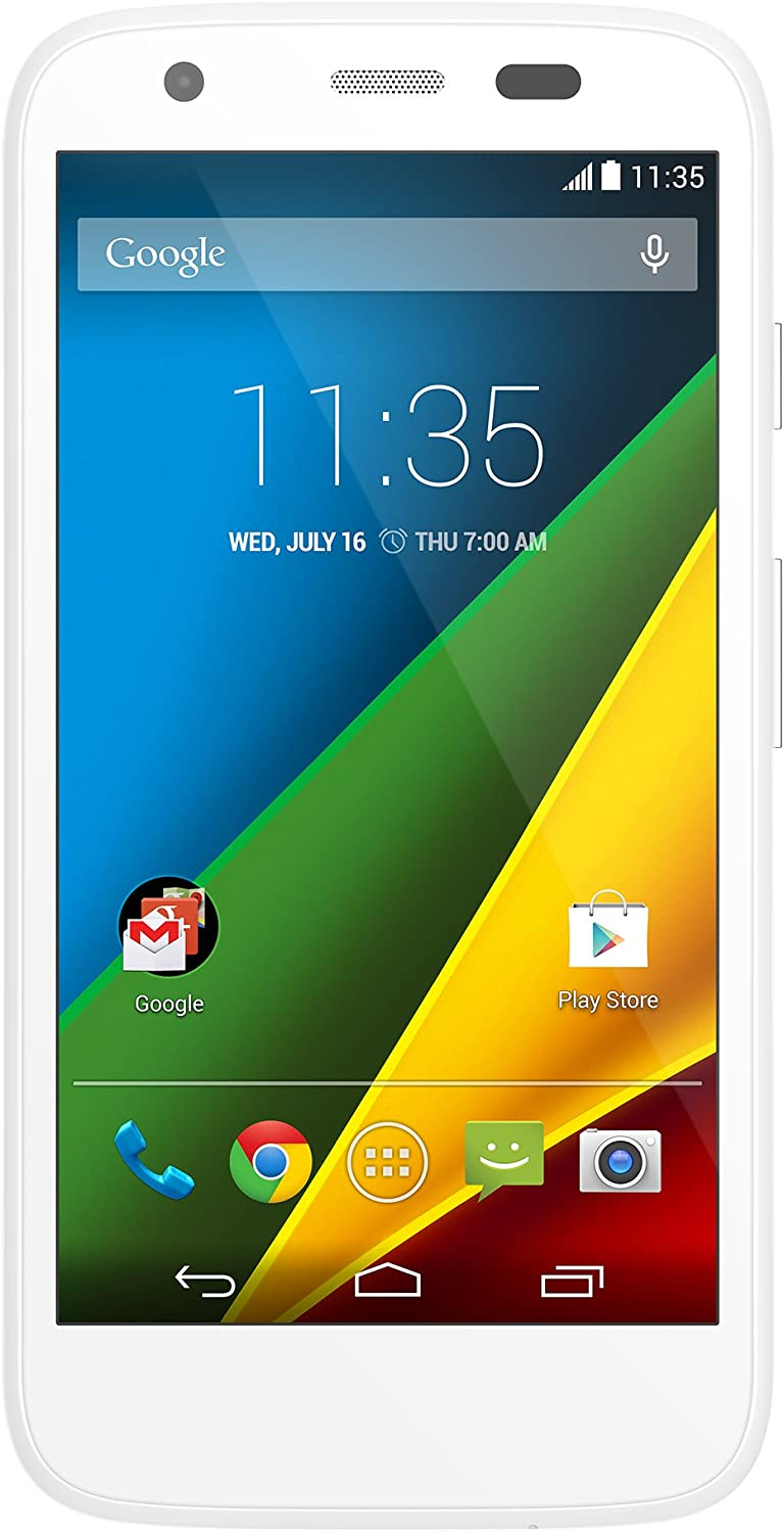 Motorola Moto G (1st Generation) Unlocked Cellphone, 8GB, White