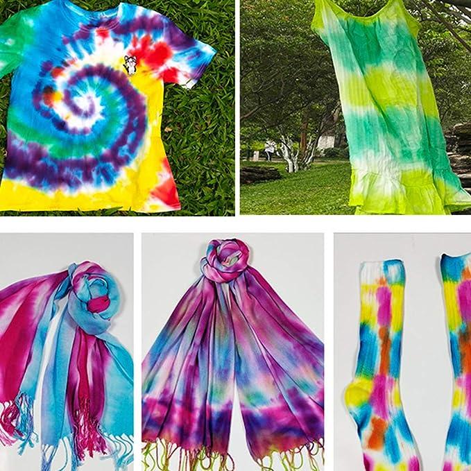 3 uds., Kit de teñido anudado de colores, pinturas textiles para tela, Kit de teñido anudado, Kit de teñido anudado, pintura permanente, colores, Kit ...
