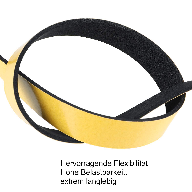 schwarz 3 Rollen je 5m lang B Dichtungsband f/ür T/üren Fenster 6mm x3mm Gummidichtung f/ür Kollision Siegel Schalld/ämmung Gesamtl/änge 15m D selbstklebendes Schaumstoffband T/ürdichtung Fenste