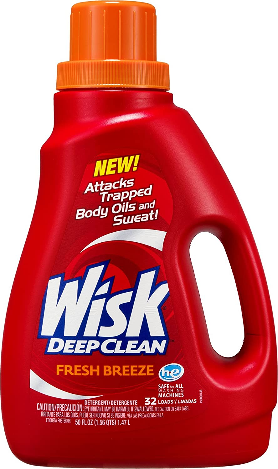 Wisk Deep Clean Fresh Breeze Detergent - 32 Loads