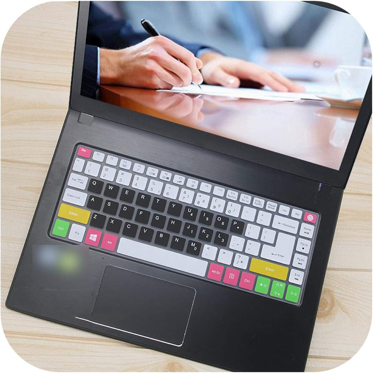 Film Pour Clavier 14 Inch Silicone Laptop Keyboard Cover Protector Skin for Acer Aspire E14 Sf314 Swift 3 E5 432G K4000 Tmp248 Tmtx40 Tmx349-Candyblack-