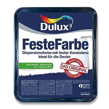 Dulux Feste Farbe Wand  Und Deckenfarbe, Blütenweiß Seidenglänzend