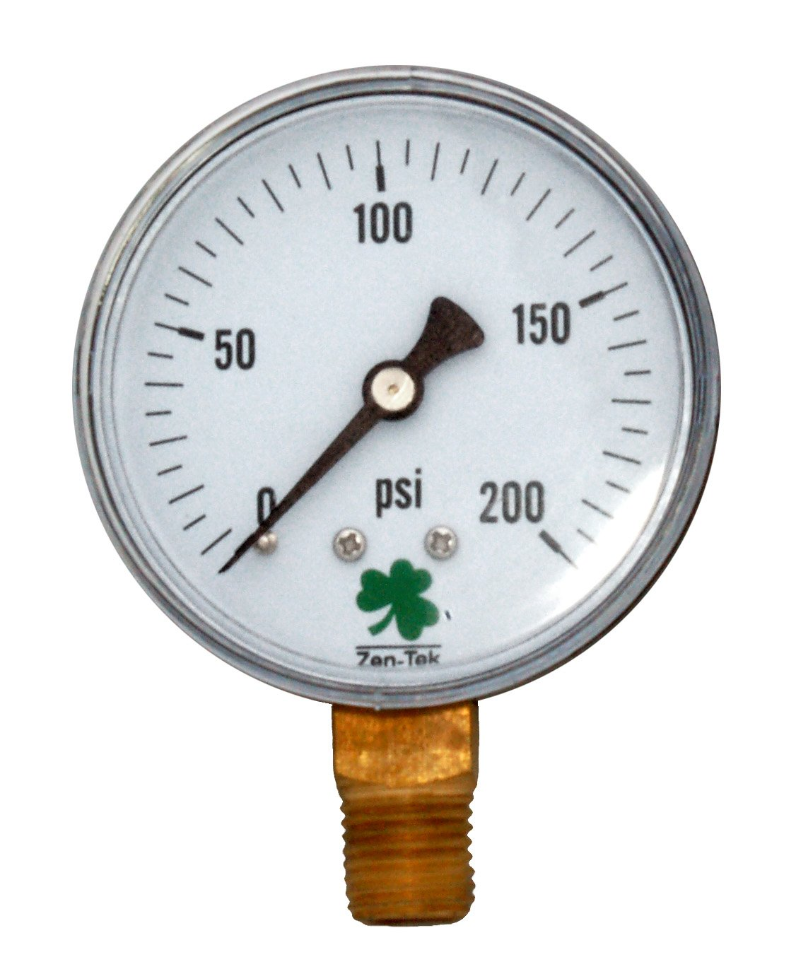 Zenport Zen-Tek Dry Air Pressure Gauge 500 PSI Pack De 10 DPG500-10