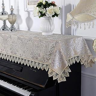 TINE Piano copertura antipolvere creamy-white Cloth Art pizzo ricamato Semimaschera universale semplice champagne blu 90 * 200cm, champagne, 90 * 200cm