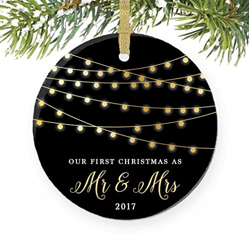 Amazon.com: First Christmas as Mr & Mrs Ornament 2017, 1st Married ...