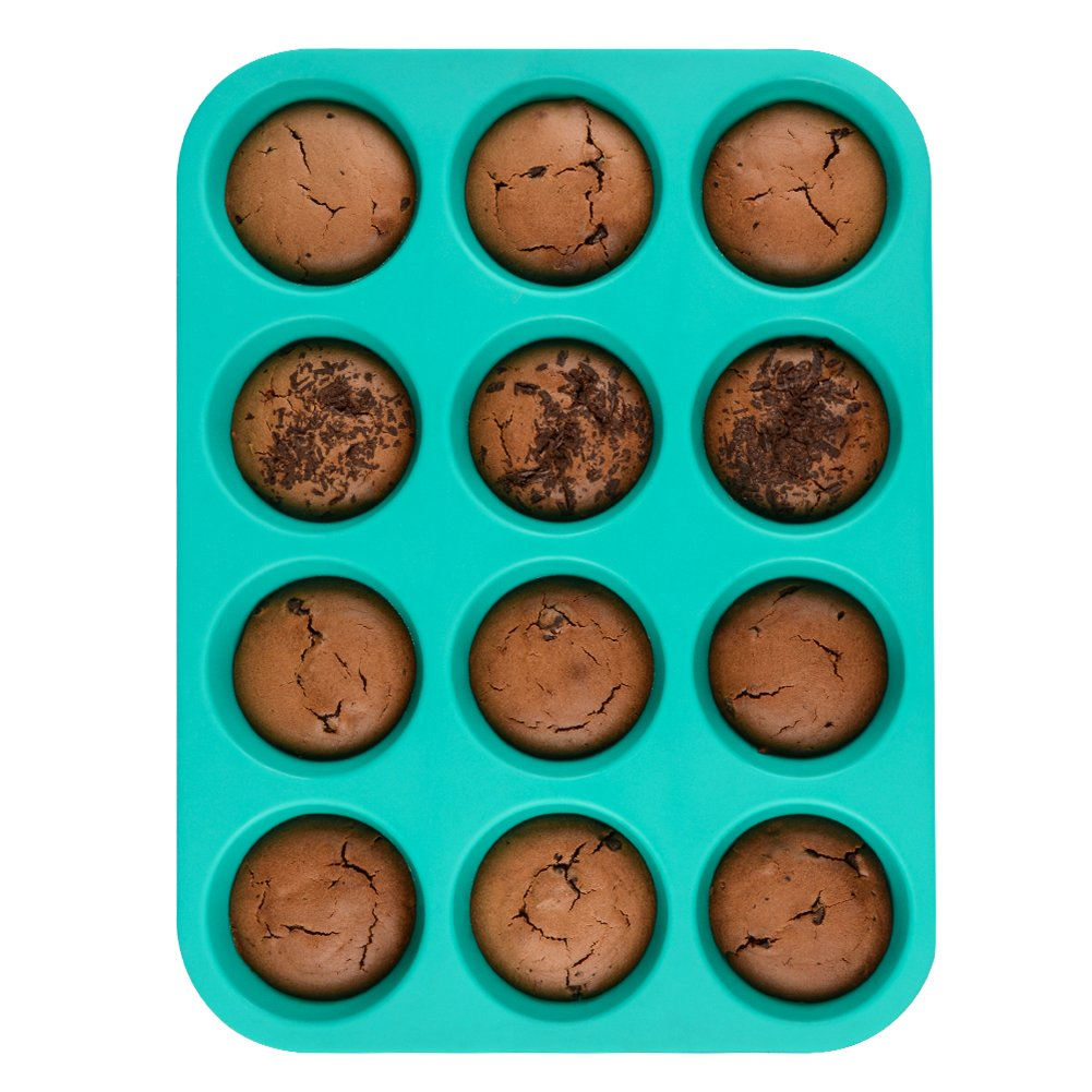 Silicone Muffin Cupcake Pan Set - Mini 24 Cups and Regular 12 Cups Muffin Tin, Nonstick BPA Free Best Food Grade Silicone Molds with Bonus 12 Silicone Baking Cups by Silikolove (Image #9)