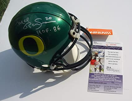 Amazon Com Oregon Ducks Mel Renfro Autographed Signed Mini Helmet