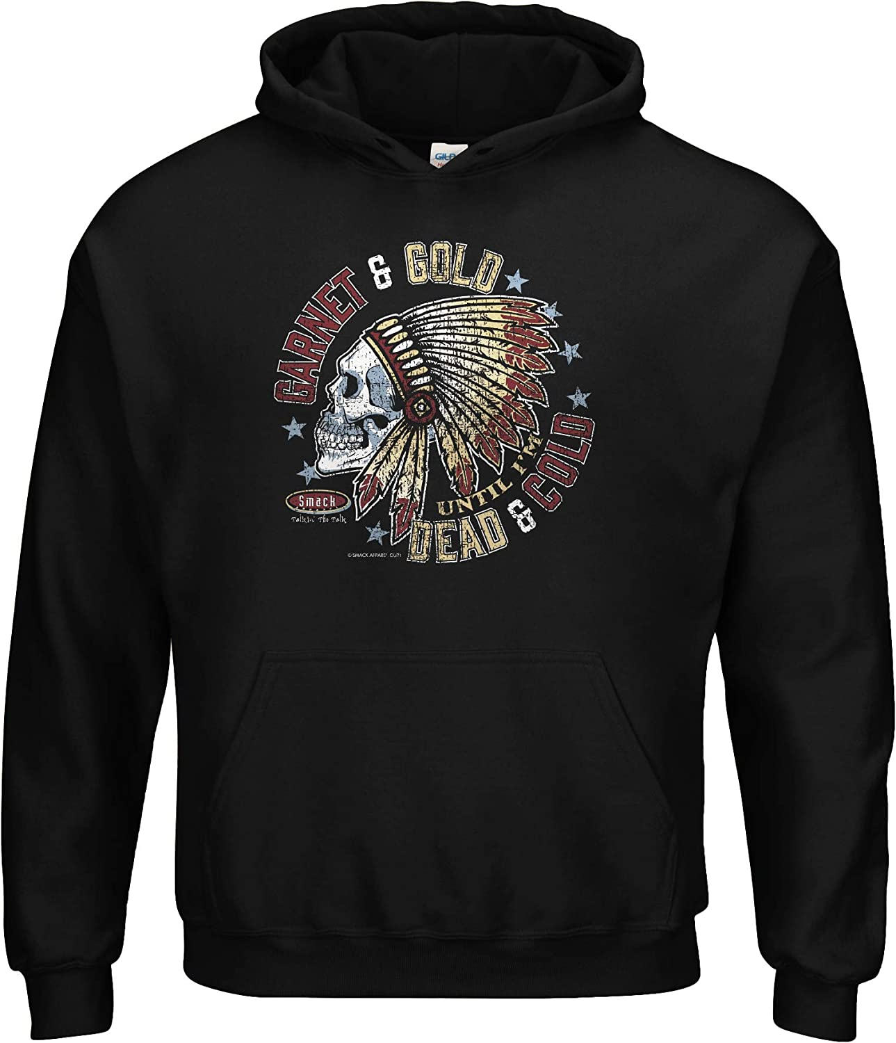 Florida State Football Fans Garnet and Gold Till Im Dead and Cold Black T-Shirt Sm-5X
