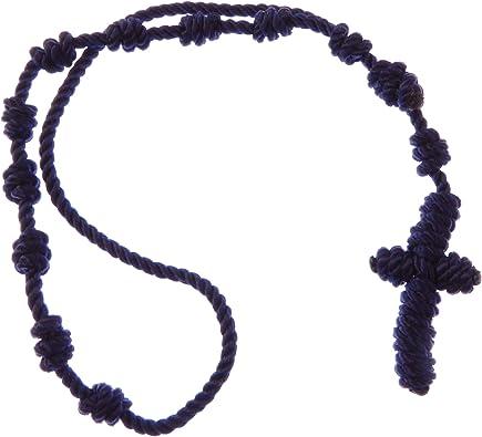Catholic Retreat Craft Knotted Rosary Twine for one Rosary Bracelet Blue Knotted Rosary Bracelet Kit BRACELET KIT