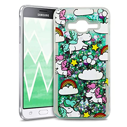Anfire Funda Samsung J3 Carcasa Glitter Silicona Estrellas para Samsung Galaxy J3 2016/2015 J310 Líquido Bling Unicornio TPU Case Transparente Caja ...