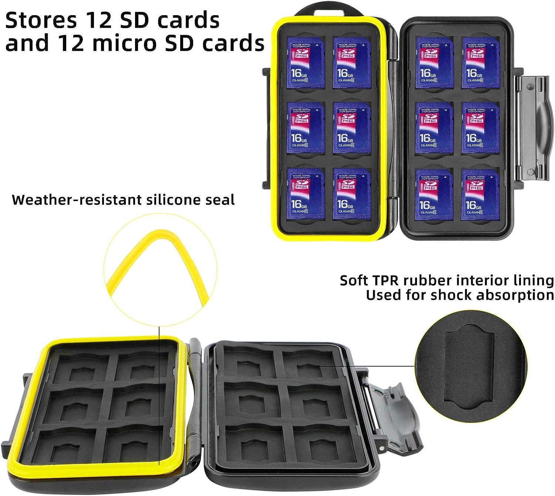 WOVTE Plastic SD MMC SDHC PRO Duo Memory Card case Holder Jewelery Case SD Card Holder