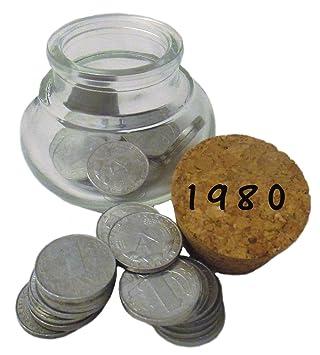 38 Ddr Pfennig Münzen Von 1980 Zum 38 Geburtstag Im Bauchglas Mit