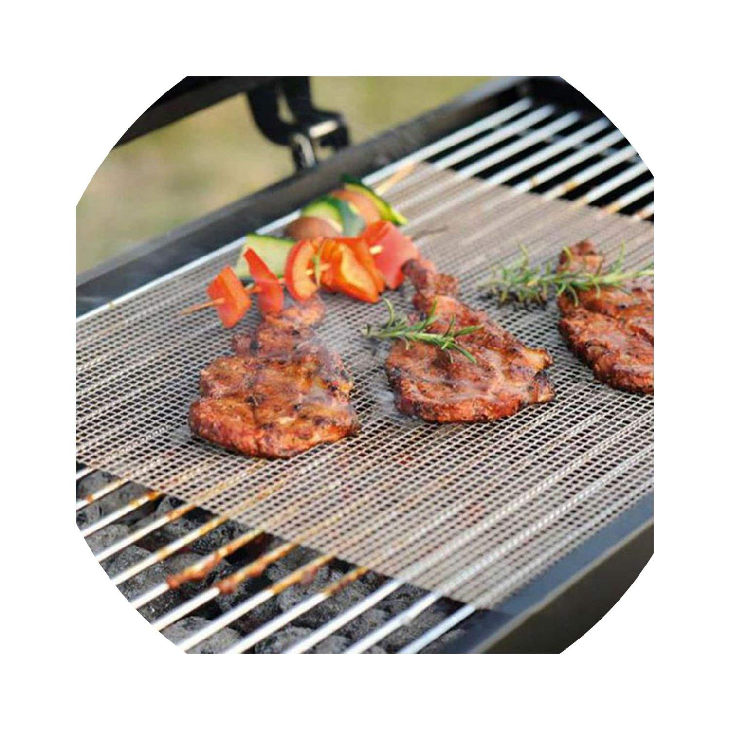HuaHua-Store High Security Grid Shape BBQ Mat for Outdoor Activities-Heat Resistance and Non-Stick