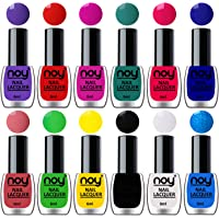 NOY® Quick Dry One Stroke Color Nail Polish Combo Offer Set of 12 in Wholesale Rate 6ml each (Purple, Orange Red, Plum, Radium Green, Carrot Pink, Blue, Peach, Green, Yellow, Black, White, Sky Blue)