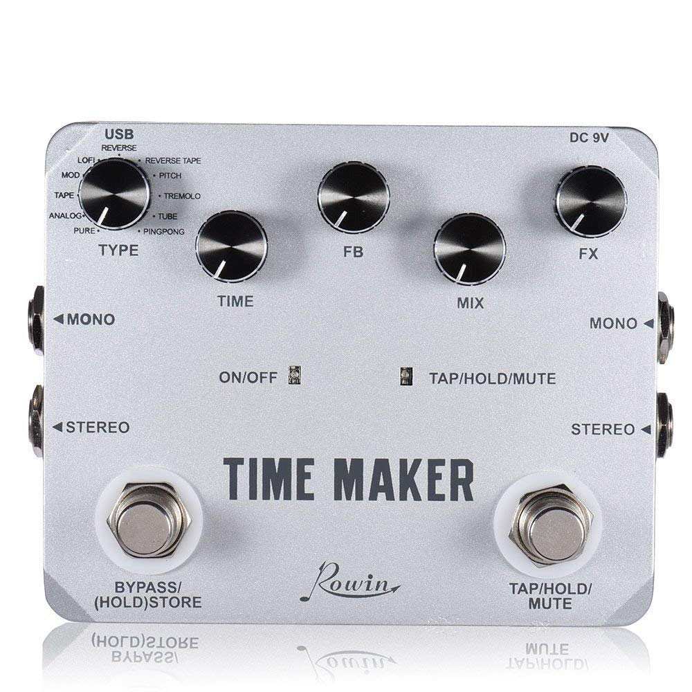 Rowin LTD-02 Time Maker 11 Types of Ultimate Delay Pedal for Guitar Bass