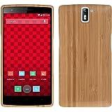 kwmobile custodia in legno naturale per il OnePlus One in bambù marrone chiaro