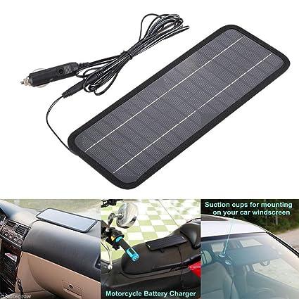 Amazon.com: Cargador de batería solar portátil para coche ...