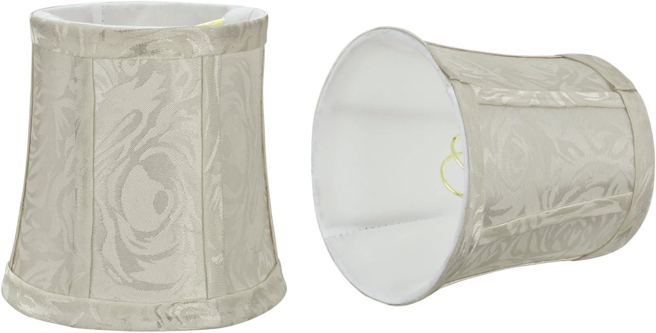 Set of 6 CS-207BLK-6 Royal Designs Bell Chandelier Lamp Shade Size 5 Black