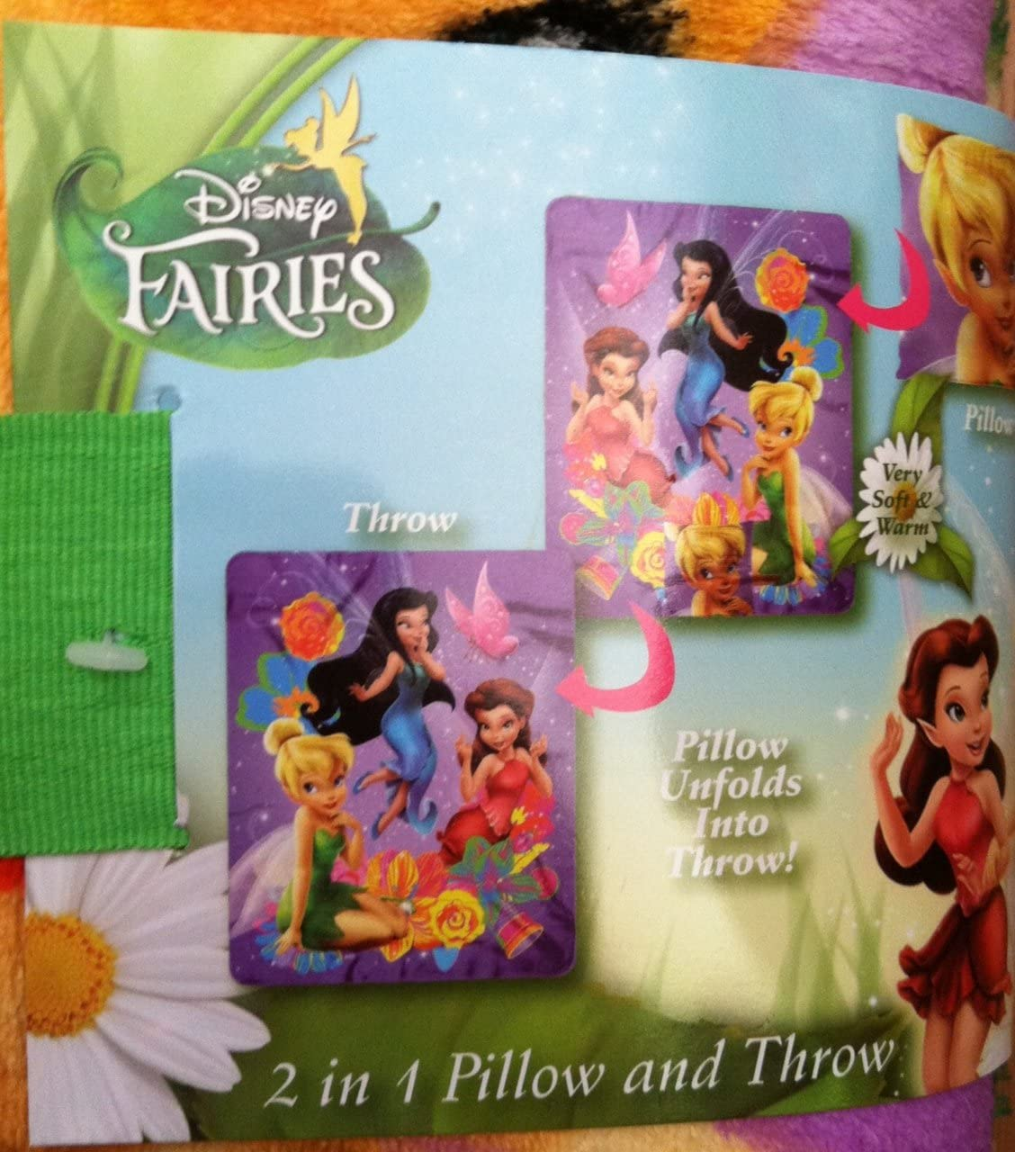 Disney Fairies Fairy Frolic 2 in 1 Pillow and Throw