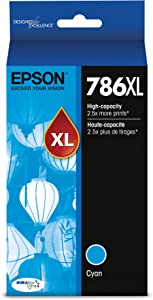 Epson T786XL220 DURABrite Ultra High Capacity Cartridge Ink Cyan