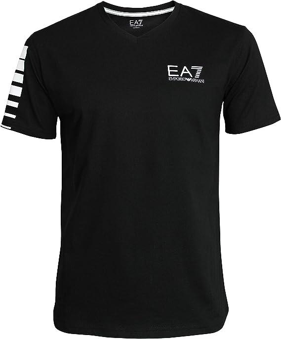 Emporio-Armani EA7 Hombre Camiseta T-Shirt 3YPTB8 PJ02Z, Cuello en ...