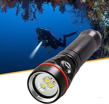 Waterproof Underwater Diving Torch LED Outdoor Flashlight Glare Lighting