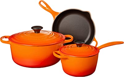 Le Creuset MS1605-2 Signature Enameled Cast Iron Cookware Set