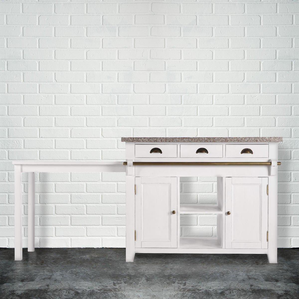 BUTLERS MAPLE HILL Küchenblock mit Granitarbeitsplatte - Kücheblock ...