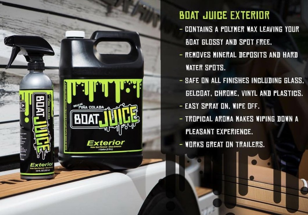 Boat Juice Exterior Boat Cleaner - Water Spot Remover - Polymer Wax Protectant - Gloss Enhancer - Pina Colada Scent - 18oz Sprayer Bottle by Boat Juice (Image #2)